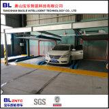 Alavanca que circula o sistema mecânico do estacionamento