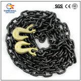 Черная Tempered выкованная цепь связывателя G80 с крюком Clevis