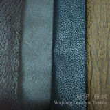 Tissu en cuir composé de suède de Nubuck de polyester pour le sofa