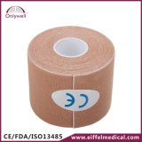 Vendaje adhesivo elástico terapéutico fisio del músculo del algodón del deporte