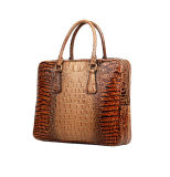 Sac à main d'emballage de cuir de graines de crocodile de prix usine pour des hommes d'affaires