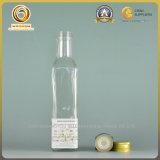 bouteille en verre de grand dos du couvercle à visser 250ml pour l'huile d'olive (092)