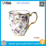 Tasse en céramique de couleur de chintz de Rose 1940-English de mère patrie