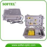 Amplificador ao ar livre do RF do impulsionador do cabo do tronco de CATV com trajeto do retorno