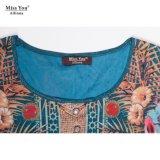 Ailinna 305150さんの工場直売のComfortavleの女性の長い方法花のデジタルによって印刷される服