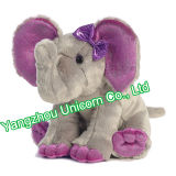 EN71柔らかい詰められたプラシ天のおもちゃの赤ん坊のギフトの紫色象