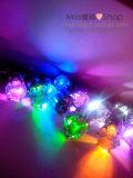 Boucles d'oreille en gros de la lueur DEL de forme de diamant pour Noël Ceremoney
