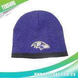 Gorrita tejida caliente hecha punto unisex de acrílico bicolor del sombrero del invierno (011)