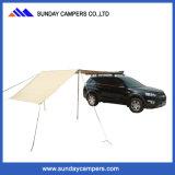 屋外のキャンバス折る車の側面のおおいの屋根の日除け