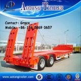 中国の工場直売30ton、50トン、60ton、80tonの半100ton低いローダーのLowboyの低いベッドのトラックのトレーラー