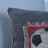 Handgemachtes dekoratives Kissen/Kissen mit Sport-Kugel-Muster (MX-48)
