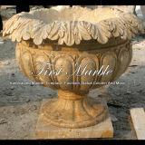 Piantatrice di pietra di marmo MP-108 del calcio dell'oggetto d'antiquariato della piantatrice del granito