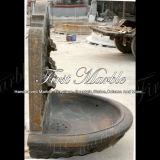 Marmeren Fontein mf-772 van de Muur van Giallo Marrone van de Tuin van het Graniet van de Steen