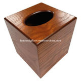 De houten Dekking van de Doos van het GezichtsWeefsel van de Boutique/Houten Houder