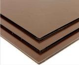 Kaffee-Farben-zusammengesetzter Panel-Aluminiumgebrauch für Wand-Ende