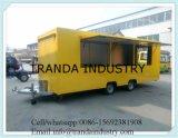 Buon rimorchio mobile ecologico dell'alimento della spremuta del hot dog della via della Cina