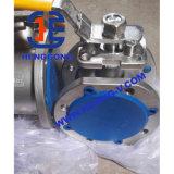 Valvola a sfera di galleggiamento della cialda dell'acciaio inossidabile dell'azionatore pneumatico di API/DIN
