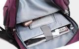 Purpurroter Laptop-Rucksack mit Freizeit und modernem Entwurf