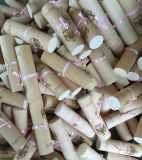 Rectángulo de madera suave personalizado de la pluma de la corteza de la insignia de la marca de fábrica para Shool/la promoción