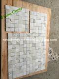 Mosaico di marmo bianco di Calacatta per le mattonelle della parete