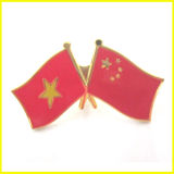Metal chapeado ouro China e Pin da bandeira de Laos