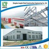 Lavoro d'acciaio nella memoria del magazzino della barra d'acciaio della costruzione di edifici