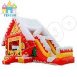 Tema de Navidad Inflable Gingerbread House Bouncer Slide
