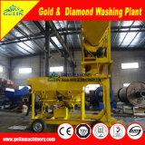 Tipo móvel planta de lavagem do depósito elevado da argila da taxa de recuperação da concentração do diamante