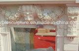 Cheminée de marbre moderne neuve en pierre normale de bonne qualité avec les fleurs (SY-MF136)