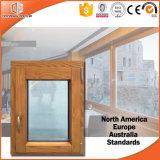 캐나다 토론토 클라이언트 알루미늄 입히는 단단한 오크재 여닫이 창 Windows의, 두 배 또는 3배 윤이 나는 목제 알루미늄 Windows