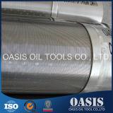 Filtre de filtre pour puits de l'eau enveloppé par fil de l'acier inoxydable 316L