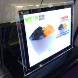 Rectángulo ligero del cristal LED del plexiglás del marco de acrílico de la foto
