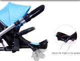 Neuer bester verkaufenbaby-DoppelSpaziergänger mit Regenschirm-/Baby-Spaziergänger-Dreirad für zwei Babys