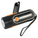 Crank Dynamo viento hasta la antorcha linterna LCD digital de XLN Am / FM Radio (XLN-704)