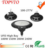 Indicatore luminoso industriale della baia del UFO LED dell'indicatore luminoso 150W 200W di SMD alto