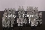 Piccola bottiglia di vetro rotonda 9ml del polacco di chiodo di alta qualità
