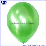 緑の顧客用ロゴの真珠の乳液によって印刷される気球