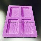 Пластичный любимчик коробки подарка пакета Flocking тип пурпура подноса