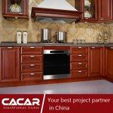 Gabinete de cozinha europeu original de madeira da forma da cereja vermelha de Pittsburgh (CA14-06)