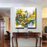 Peinture à l'huile normale de toile de décor de mur de dessin-modèle de jardin de paysage de fleur de paysage de type européen