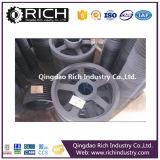 砂型で作る錬鉄の車輪か錬鉄または鋳造物の部品または合金の車輪の部品