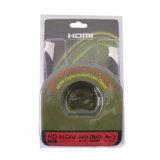 enchufe plateado de oro de alta velocidad HDMI de 1080P HDMI Cable/V1.3 V1.4