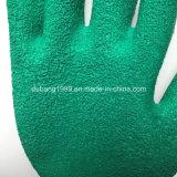 10gauge Cotton Gloves Latex Coated Gloves Crinkle Working Gloves
