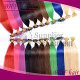 60# Itip biondo bianco 0.8g 20inch capovolgo le estensioni brasiliane Remy nero dei capelli di fusione fredda del grado del Brown 100PCS 7A di estensioni dei capelli