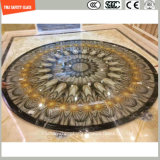 la impresión del Silkscreen de la pintura de 4-19m m Digitaces/el grabado de pistas ácido/helaron/el plano del modelo/doblaron el vidrio Tempered/endurecido para la pared/el suelo/la decoración casera con SGCC/Ce&CCC&ISO