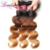 La meilleure ondulation brésilienne colorée de vente de cheveux humains de Vierge de la pente 8A