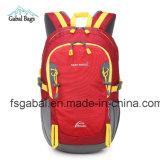 L'orange en nylon multifonctionnelle d'élève de sac à dos de sport folâtre le sac de livre