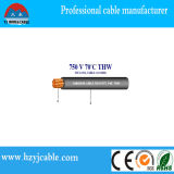 Le câble de fil enroulé spiralé 75c sèchent, câble de fil thermoplastique de PVC de 75cwet 16AWG Thwn, câble de constructeur de la Chine