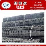 13% 신장 30kn-800kn/M PVC 입히는 폴리에스테 Geogrid