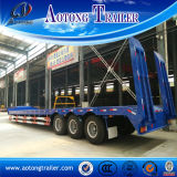 3 Radachse Low Bed Semi Trailer mit Mechanical Ladders